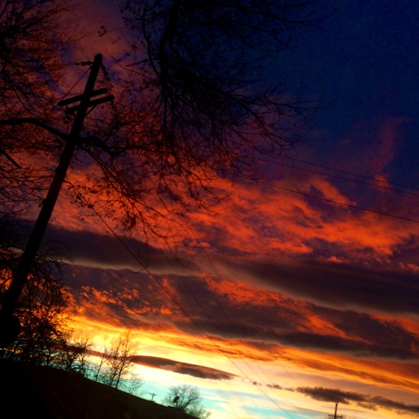 orange and purple sunset. denver colorado. Meg O'Neill . fire