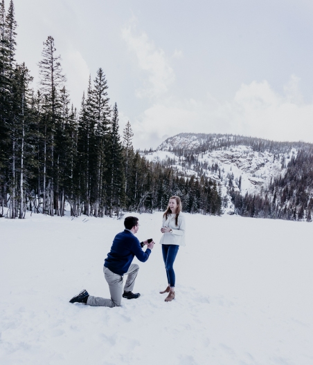 Proposal, Rocky Mountain National Park, Colorado, engagement photography